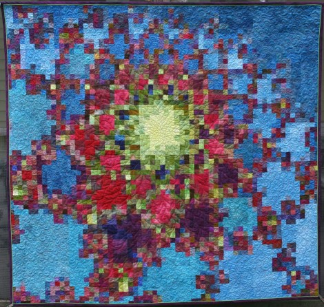 Dahlia my Dreams was part of a series of quilts based on fractal geomentry. Published in 500 Art Quilts.