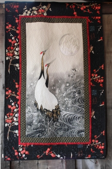 Two Cranes and Moon quilt