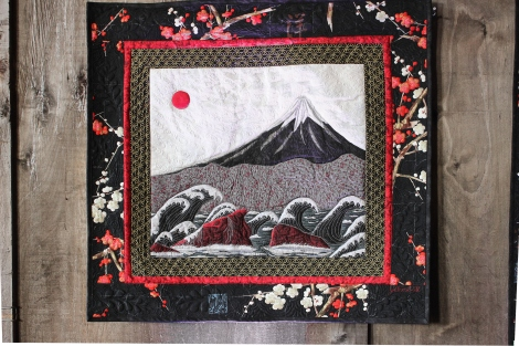 Mt. Fuji and Waves quilt