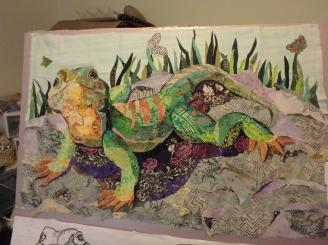 The lizard collage nearing completion.
